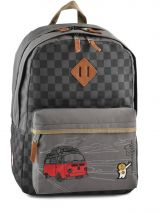 Sac A Dos 2 Compartiments Ddp Gris on the road BOR-BO2