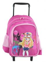 Sac A Dos A Roulettes Miniprix Rose girl 8801-2