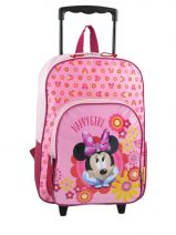 Sac A Dos A Roulette 1 Compartiment Minnie Pink happy girl 3486HAP