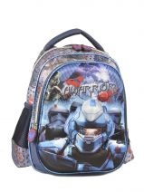 Backpack 1 Compartment Miniprix Blue rangers 53212