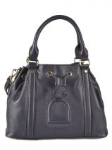 Purse Paris Leather Etrier Blue paris EPAR06