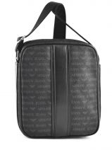 Satchel Armani jeans Black logo all over 6204-J4