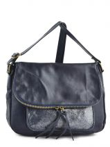 Shoulder Bag Night Leather Milano Blue night 1007N