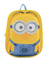 Backpack Mini Minions Yellow 3d 514