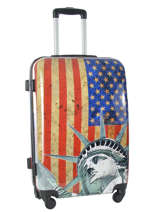 Hardside Luggage Print Shinny Travel Multicolor print shinny PT1520-M