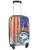 Cabin Luggage Hardside Travel Multicolor print shinny PT1520-S