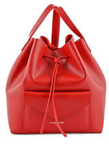 Sac Bandouliere Porte Travers Pur Smooth Cuir Lancaster Rouge pur smooth 423-11