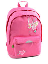 Sac A Dos 2 Compartiments + Trousse Offerte Tann's Blanc butterfly 5BUSDMD