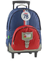 Wheeled Backpack Tann's Blue coccinelle 5CCTSDL