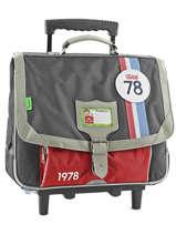 Wheeled Schoolbag 2 Compartments Tann's Gray coccinelle 5CCTCA38