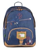 Sac A Dos 2 Compartiments + Trousse Offerte Tann's Bleu baseball 5BASDMD