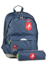 Sac A Dos 2 Compartiments + Trousse Offerte Tann's Bleu rugby 5RUSDMD