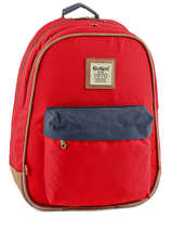 Sac A Dos 2 Compartiments Kickers Rouge kids 601150