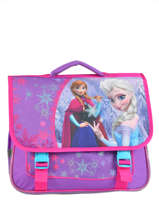 Cartable 2 Compartiments Frozen Violet christal 13424