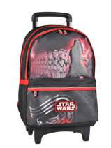 Sac A Dos A Roulettes 2 Compartiments Star wars Noir the force awakens STD22045