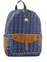 Backpack 1 Compartment Roxy Blue back to school JBP03269