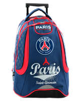 Sac A Dos A Roulettes 2 Compartiments Paris st germain Blanc paris 163P204R