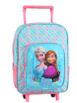 Sac A Dos A Roulettes 1 Compartiment Frozen Blue basic AST1354