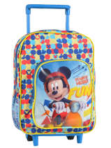 Wheeled Backpack 1 Compartment Mickey Blue basic AST1358