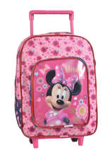 Wheeled Backpack 1 Compartment Minnie Pink basic AST1359