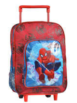 Wheeled Backpack 1 Compartment Spiderman Red basic AST1362