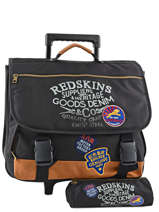 Wheeled Schoolbag With Free Pencil Case Redskins Black denim REY13006