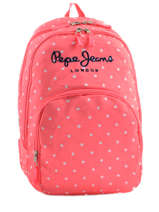 Backpack 2 Compartments Pepe jeans Pink stars 63624