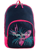 Backpack 2 Compartments Pepe jeans Blue honey 63724