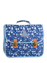 Satchel 2 Compartments Poids plume Blue pp oll over color PCO1535