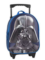 Sac A Dos A Roulettes 1 Compartiment Star wars Blue 3d 570-7356