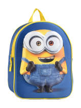 Backpack 1 Compartment Minions Blue 3d 580-6792