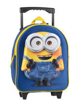 Wheeled Backpack Minions Blue 3d 580-6954