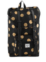 Sac A Dos 1 Compartiment Pc13'' Little America Herschel Noir classics 10020