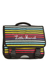 Cartable 3 Compartiments Little marcel Multicolore scolaire RESTOR
