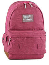 Sac A Dos 1 Compartiment Superdry Pink backpack girl G91000DN