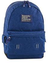 Backpack 1 Compartment Superdry Blue backpack men U91004DN