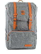 Backpack 1 Compartment Kuts Gray fashion FREE