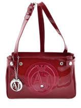 Shoulder Bag Vernice Lucida Patent Armani jeans Red vernice lucida 529C-55