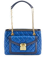 Sac Shopping Heart Quilty Love moschino Bleu heart quilty JC4205