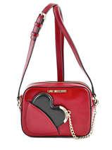 Sac Bandouliere Porte Travers Detachable Heart Love moschino Red detachable heart JC4237