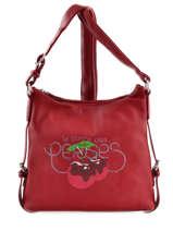 Shoulder Bag Deny Le temps des cerises Red deny LTC3M09