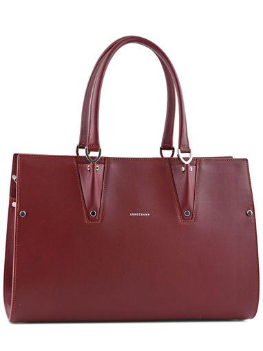 Longchamp Paris Premier Sac porté main Rouge