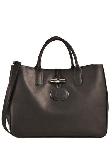 Longchamp Roseau héritage Handbag Black