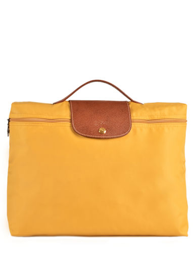 Longchamp Le pliage Briefcase Yellow