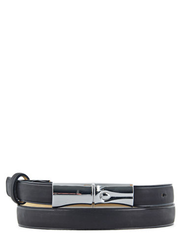 Longchamp Roseau héritage Ceinture Noir