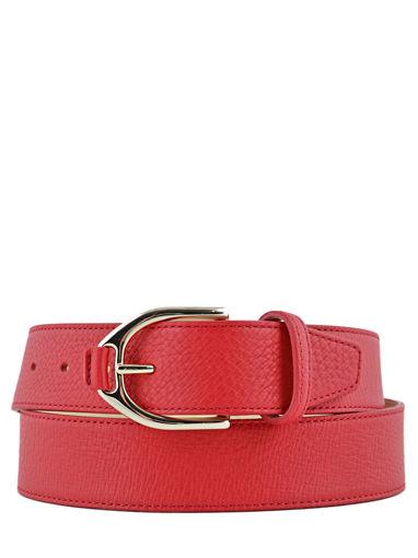 Longchamp Pénélope Ceinture Rouge