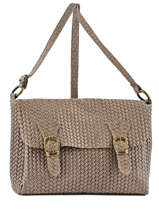 Sac Bandouliere Porte Travers Velvet Stampa Leather Milano Beige velvet stampa VS16090