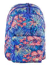 Sac A Dos 3 Compartiments Pc15'' + Trousse Roxy Blue backpack RJBP3402