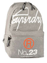 Sac A Dos 1 Compartiment Superdry Gris backpack M91001DO