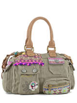 Sac Shopping Military Deluxe Desigual Vert military deluxe 71X9JC6